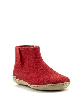 Glerups Boot Suede Sole Red