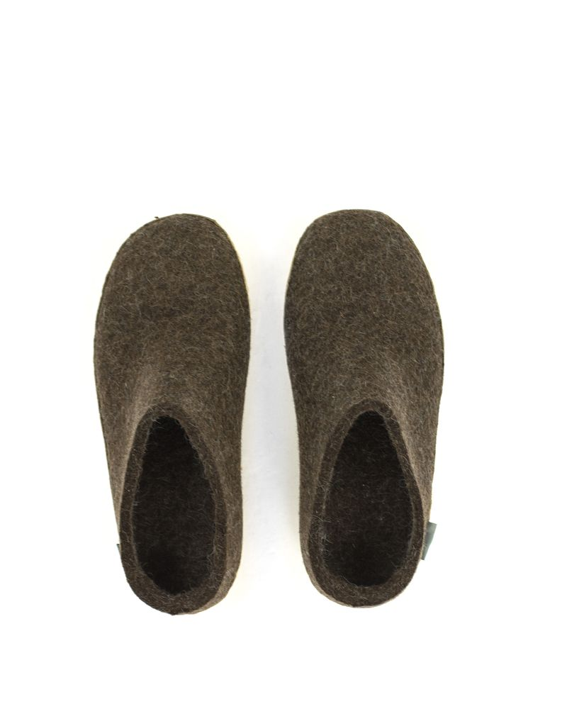 Glerups Glerups Slipper Suede Sole Brown