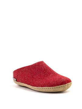 Glerups Slipper Suede Sole Red