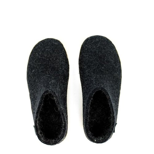 Glerups Glerups Slipper Suede Sole Charcoal