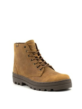 Men's Palladium Pallabosse Mid Boot Sunrise/Dark Gum