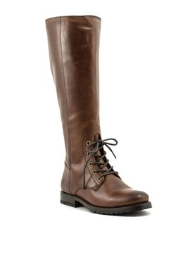 Frye Natalie Combat Tall Boot Redwood