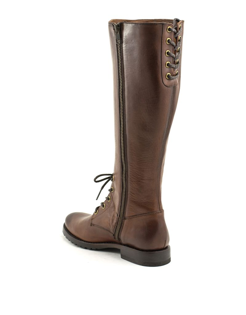 Frye Frye Natalie Combat Tall Boot Redwood