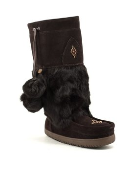 Manitobah Waterproof Snowy Owl Mukluk Dark Brown