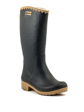 Aigle Victorine Fur Rain Boot Black