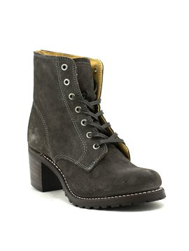 Frye Sabrina Lace Up Boot Charcoal