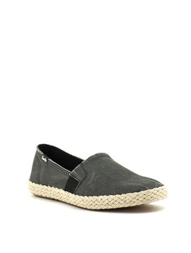 Keds Chillax A-Line Jute Slip On Black