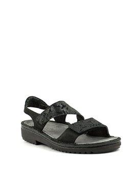 Naot Enid Sandal Black Lace Nubuck/Velvet Nubuck