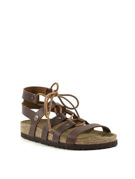 Birkenstock Cleo Sandal Cognac Leather Narrow Width
