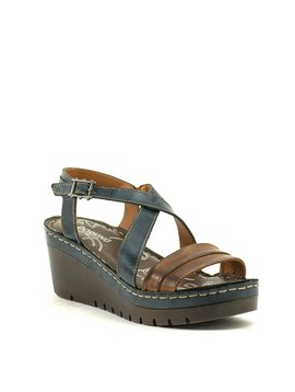 Dorking D7178 Sandal Azul/Cuero
