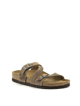 Birkenstock Salina Canberra Old Tabacco Natural Leather Narrow Footbed