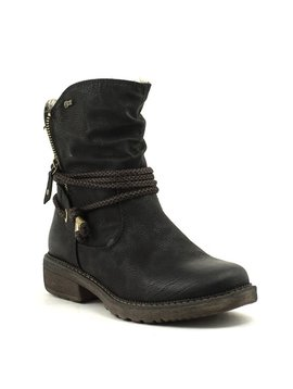 Relife 8717-14811BK-36R Short Zip Boot Black