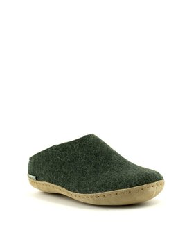 Glerups Slipper Suede Sole Forest