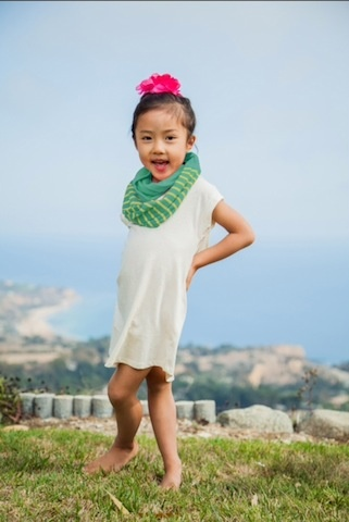 LA MADE INFINITY SCARF.MINT/LIME