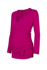Isabella Oliver RUCHED WRAP TOP.PINK.0