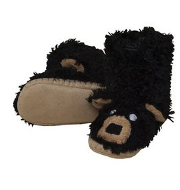 Hatley BLACK BEAR SLIPPER.S(5-7)