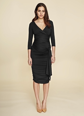 Isabella Oliver RUCHED WRAP DRESS.1