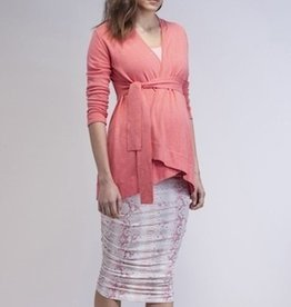 Isabella Oliver THE BELTED CARDIGAN.SALMON.M