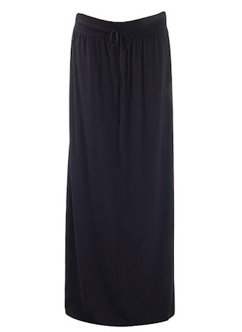 Isabella Oliver RELAXED MAXI SKIRT.BLK.0