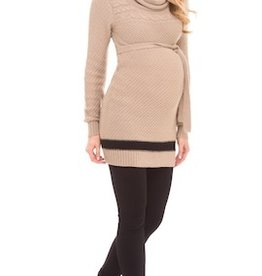 Olian COWL NECK TIE SWEATER.L