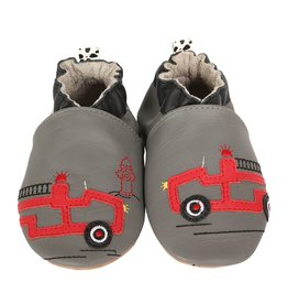 Robeez FRIENDLY FIRETRUCK.GREY.0-6M