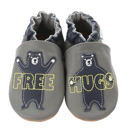 Robeez free hugs.grey.0-6m