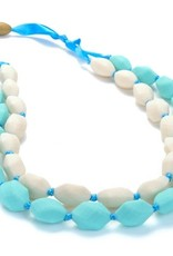 CHEWBEADS ASTOR NECKLACE.TURQ/IVORY