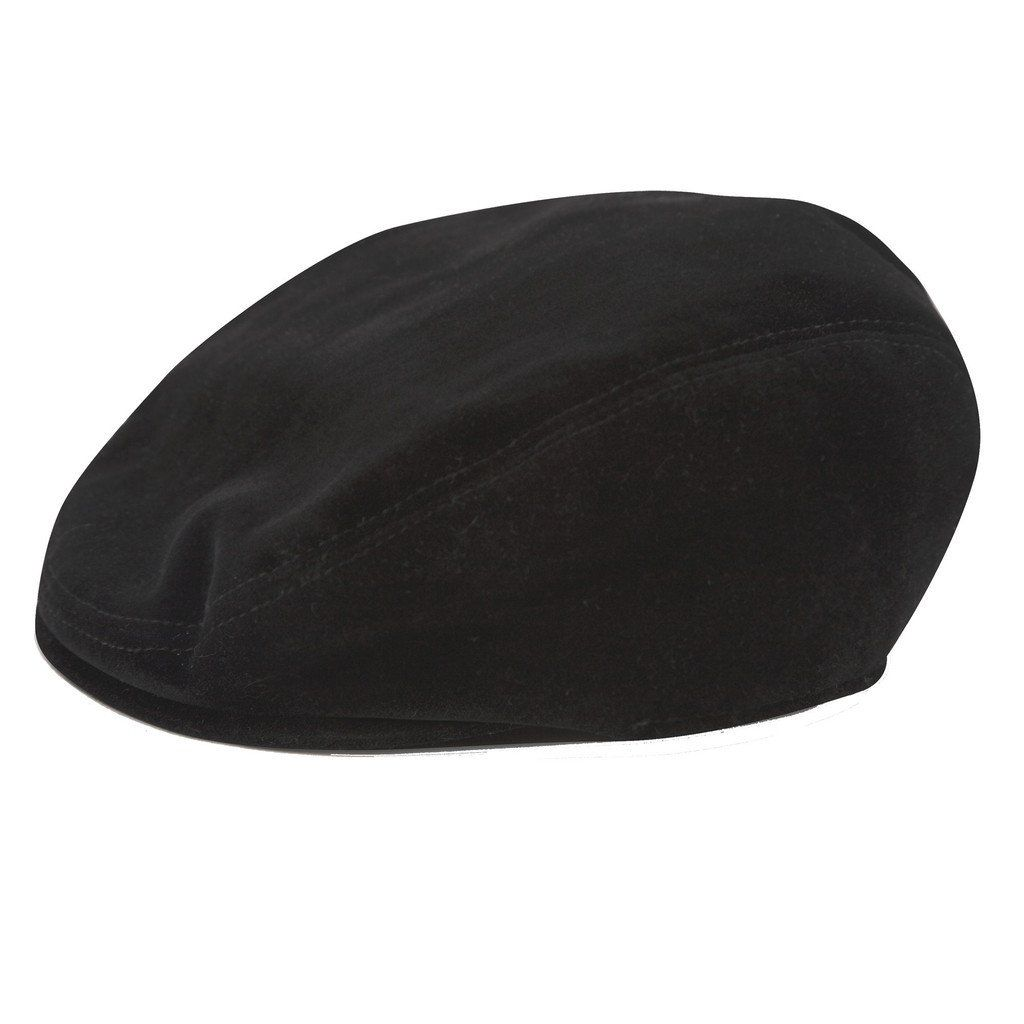 ANDY & EVAN NEWSBOY CAP.BLACK VELVET.5-7Y