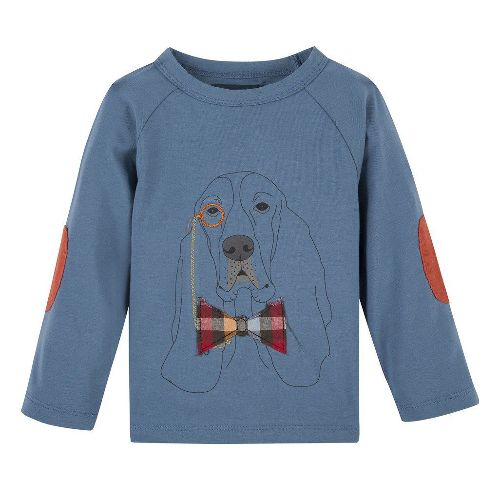 ANDY & EVAN LS GRAPHIC TEE.BLUE HOUND.6Y