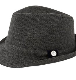 ANDY & EVAN FEDORA.GREY HERRINGBONE.5-7Y