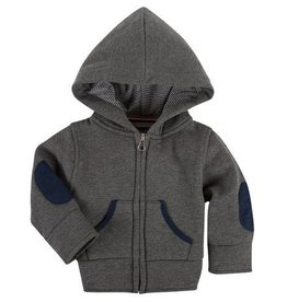 ANDY & EVAN ZIP UP HOODIE.CHARCOAL GREY.18M