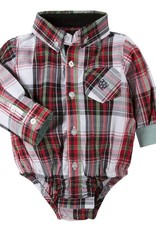 ANDY & EVAN XMAS PLAID.LS.6-12M