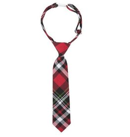 ANDY & EVAN TIE.RED PLAID.0-24M