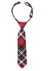 ANDY & EVAN TIE.RED PLAID.5-7Y