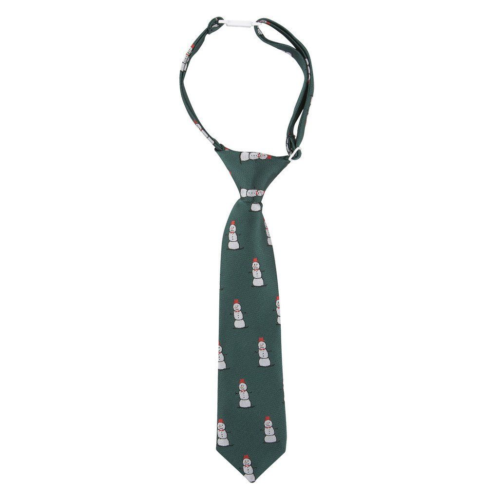 ANDY & EVAN TIE.GREEN SNOWMAN.5-7Y