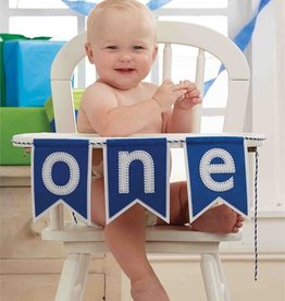 Mud Pie BOY ONE HIGH CHAIR BANNER
