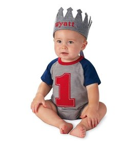 Mud Pie BOY FELT CROWN.BLUE