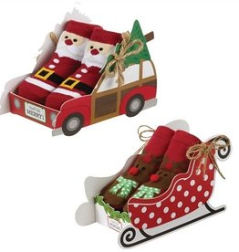 Mud Pie XMAS CAR BOX SOCKS