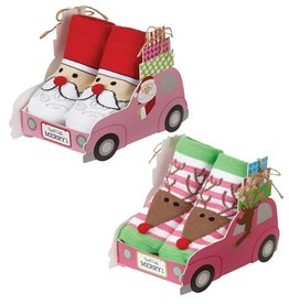 Mud Pie SANTA SLEIGH BOX SOCKS