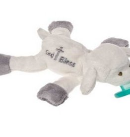 "MARY MEYER ""God Bless"" Lamb WubbaNub Pacifier – 7″"