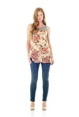 Lilac HOLLY TOP.FLORAL A.XS