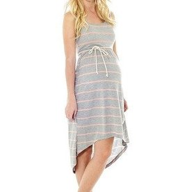 Lilac AVERY DRESS.H GREY/STRP.S