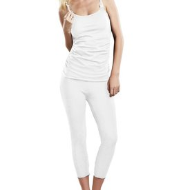 Maternal America NURSING SIDE RUCHED CAMI.WHITE.XS