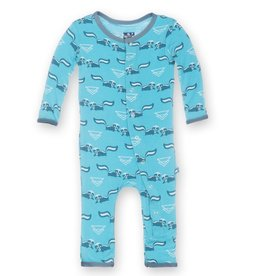 Kickee Pants Print Fitted Coverall