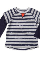 egg FRENCH TERRY SHIRT.GRY STRIPES.12M