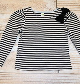 Dino Bebe STRIPED SHIRT WITH BLACK BOW.B.3Y
