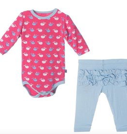 Kickee Pants F316 LS Puff & Legging Set