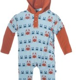 Kickee Pants F316 LS Hooded Romper
