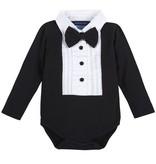 ANDY & EVAN Black Tuxedo w/ White Bib- Black