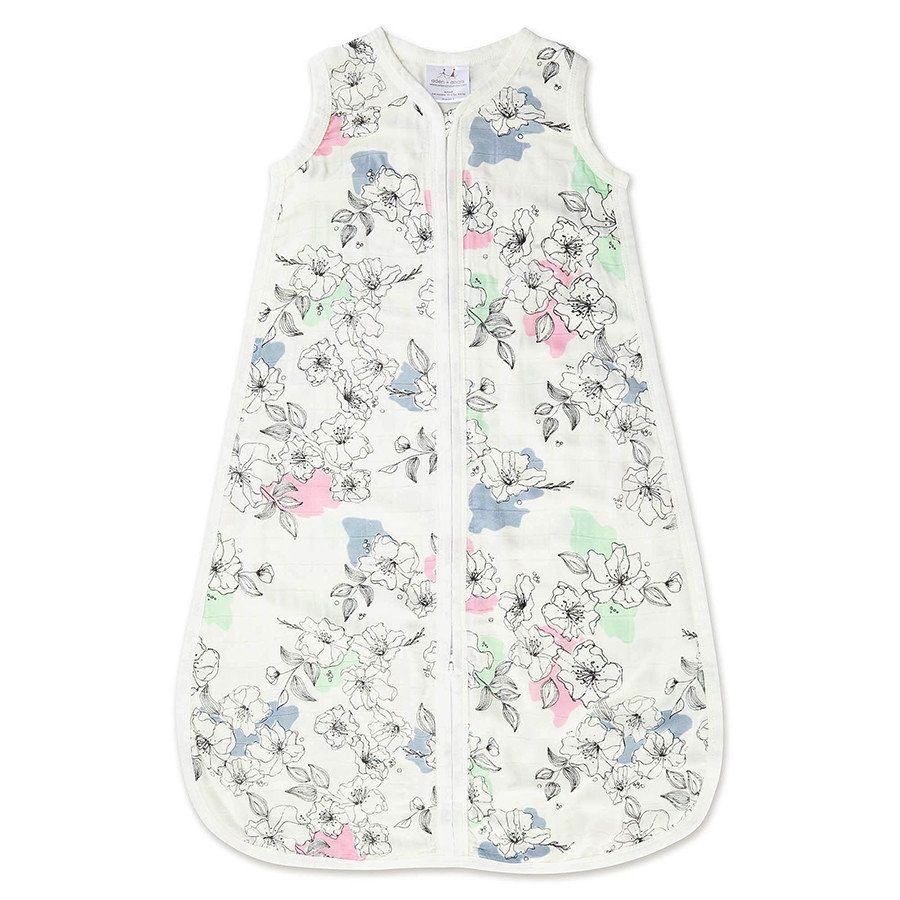 aden+anais silky soft sleeping bag.